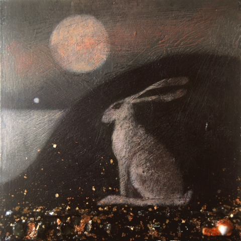 hare sea and moon