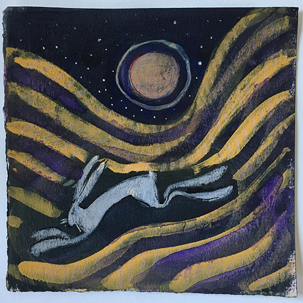 catherine hyde hare and moon