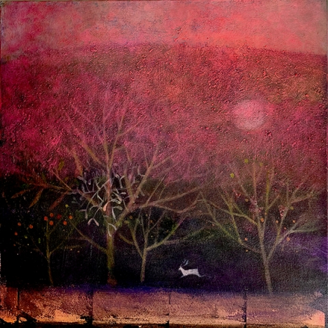 the russet night painting