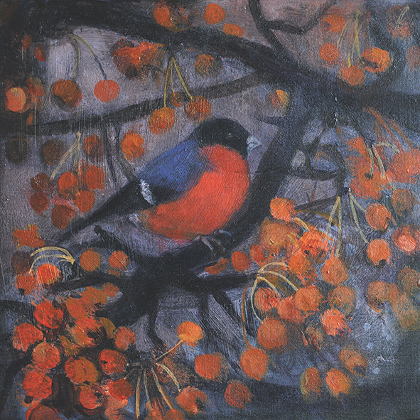 The bullfinch in January: print
