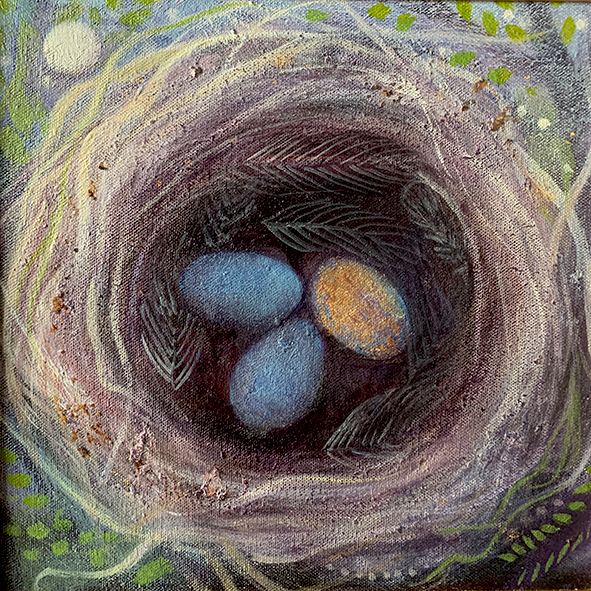 The mistle-nest: painting