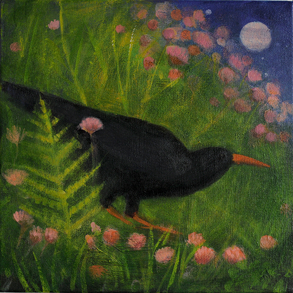Chough: painting